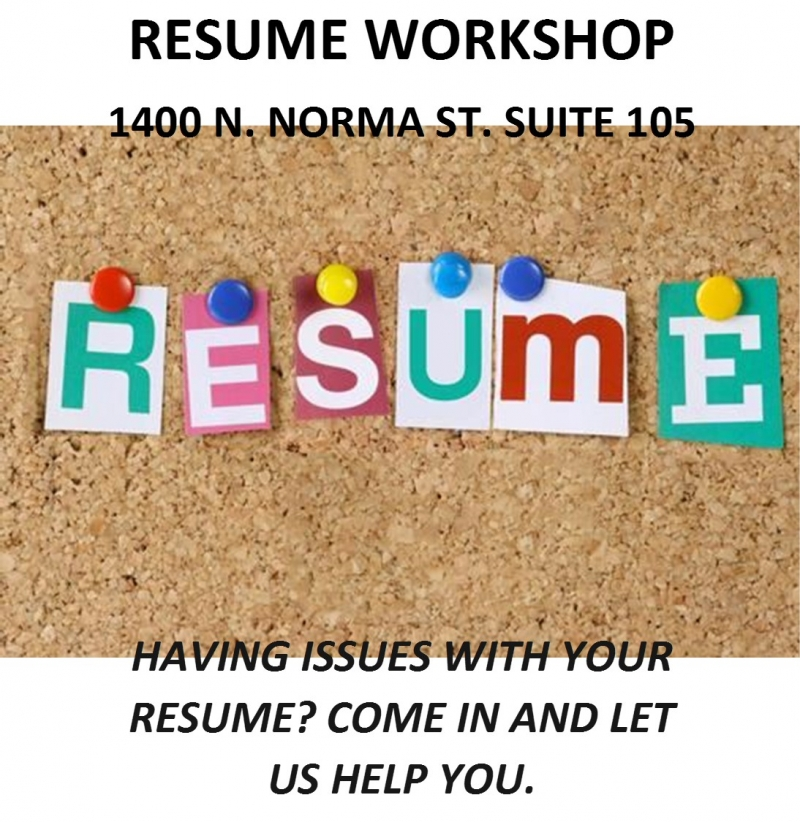 Resume Workshop 05/01/2018 Ridgecrest, , Americas Job Center Of