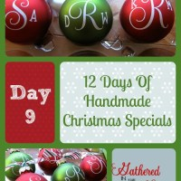 12 Days Of Handmade Christmas Specials - Day 9: Vinyl Monogrammed Ornaments