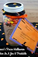 Reece's Pieces Halloween Cookies In A Jar & Printable