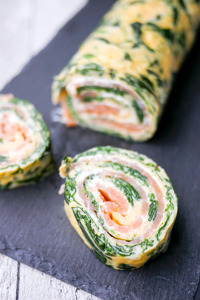 Fingerfood Kinder Schnell Low Carb Spinat Lachs Rolle