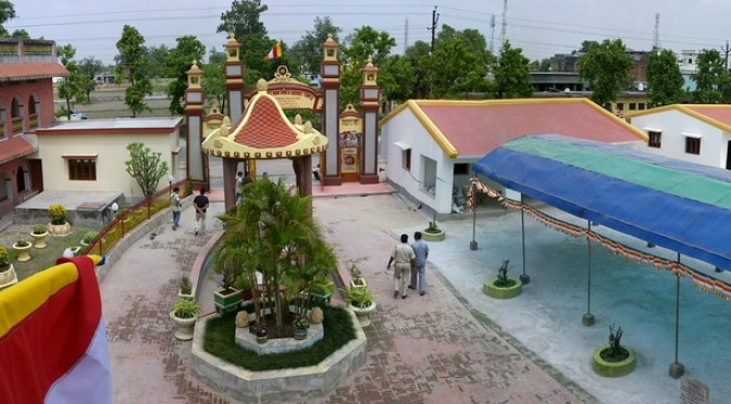 Aerial View of Linh-Son Temple's ground