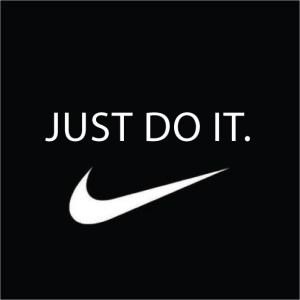 Nike logo saying Just do it