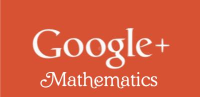 google plus mathematics community