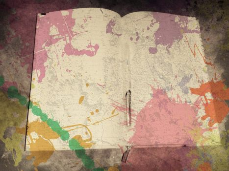 Color splashed Diary