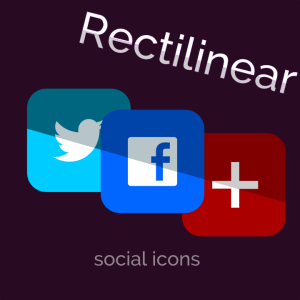 Rectilinear Social Icons