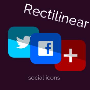 Rectilinear Social Icons
