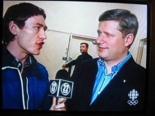 Gavin interviewing Prime Minister Stephen Harper