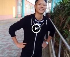 【Vine動画】ズボンチャックの隙間から包茎ペニスを露出させる金髪のやんちゃ系男子www