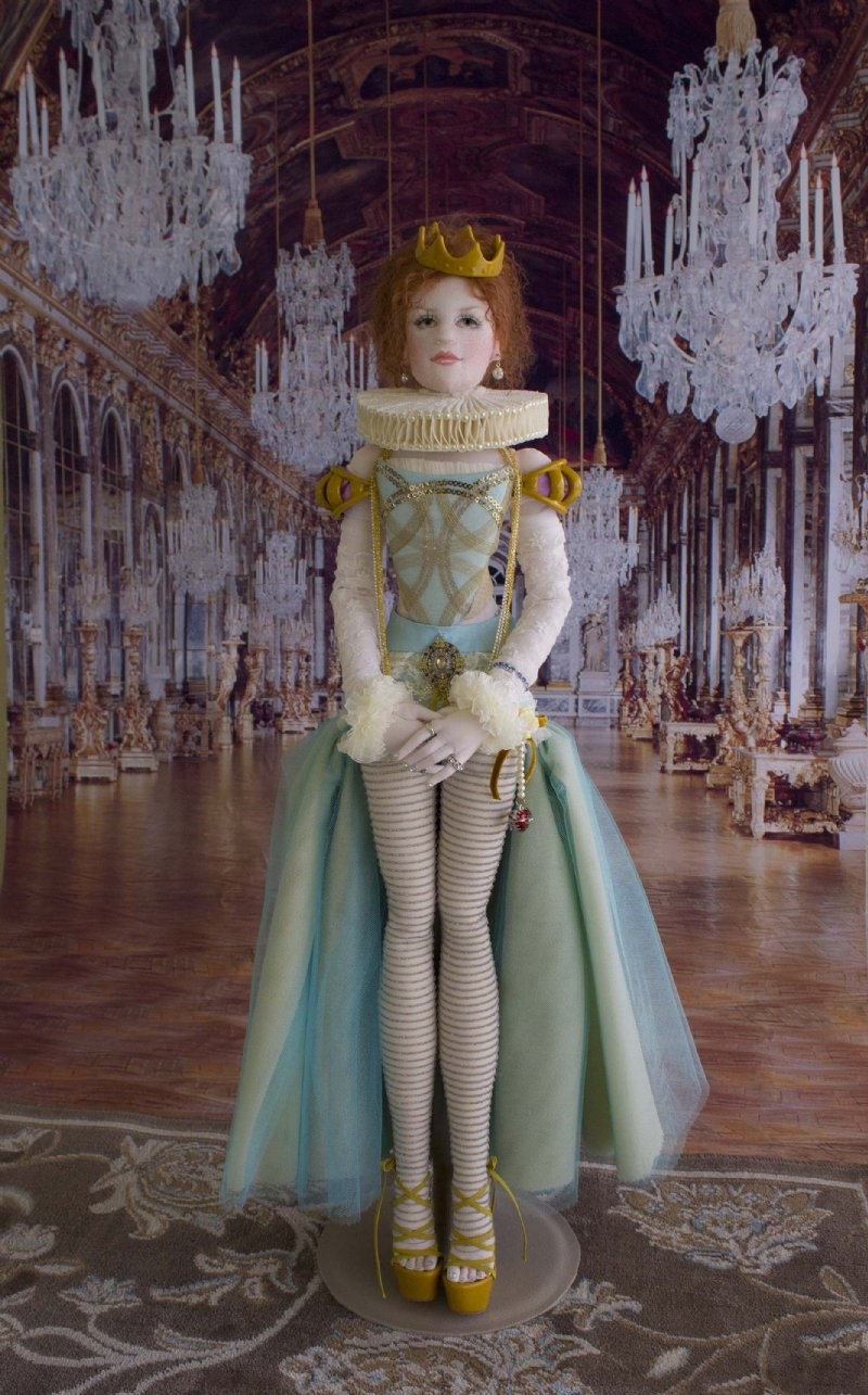 Retro Bed Lady Jane, Ooak, Tudor-inspired Lady Art Doll