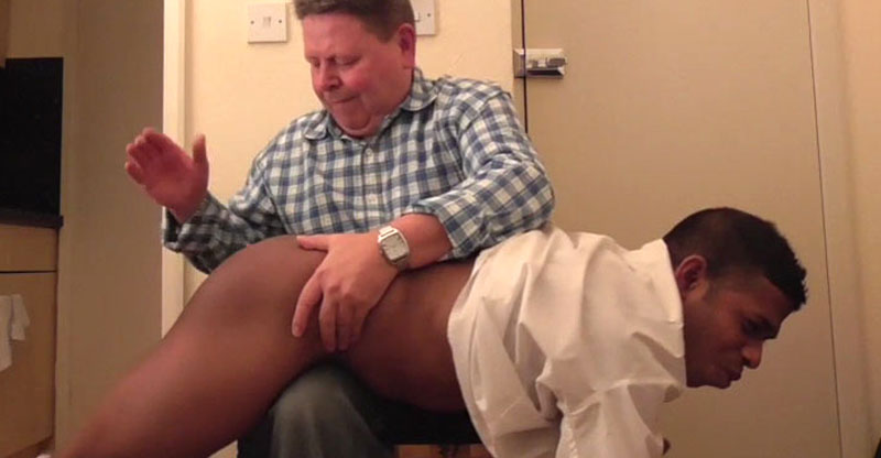 Smooth Bottomed Saul gets Another Stern Spanking!