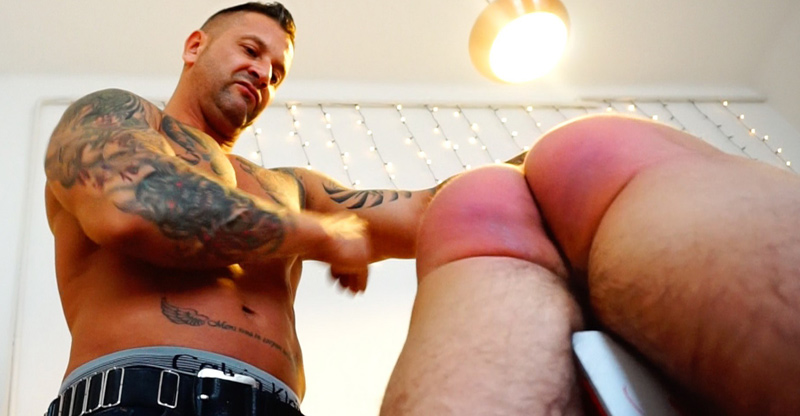 Step dad spank