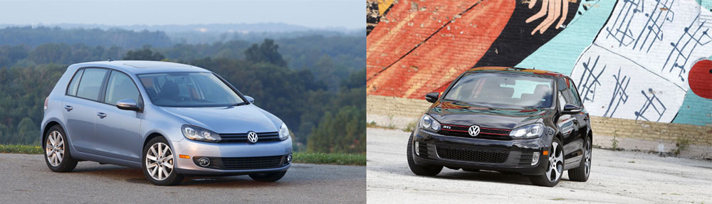2011 VW Golf GTI vs 2011 VW Golf TDI