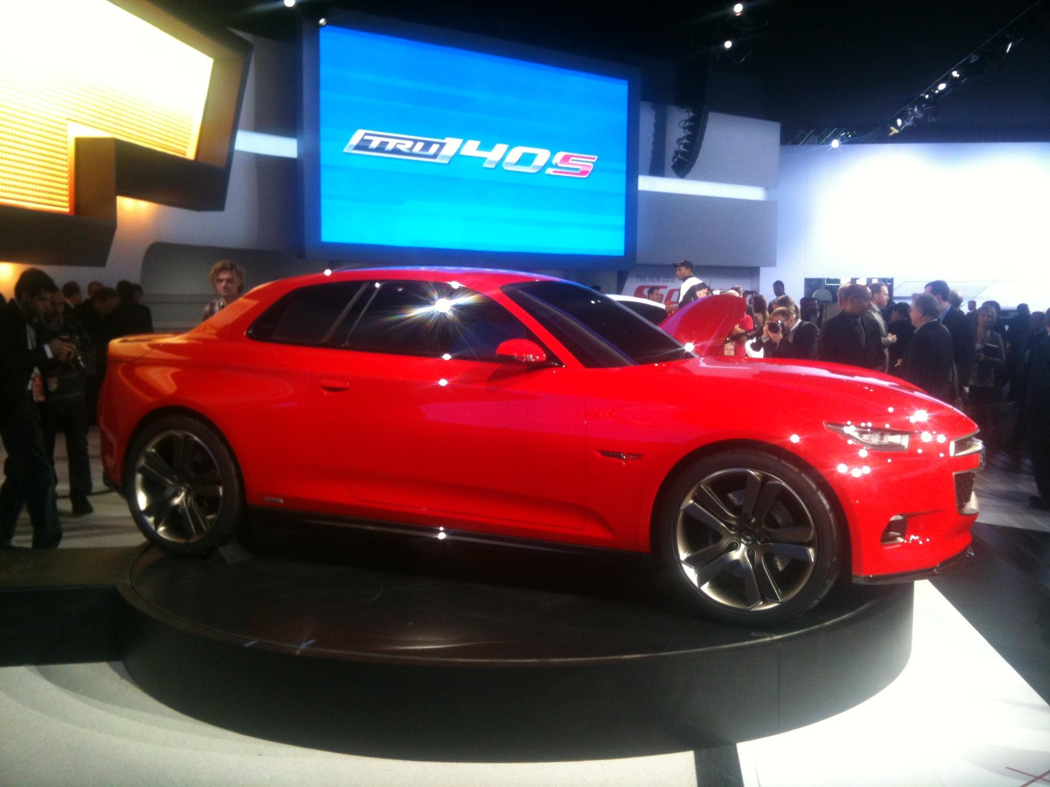 Chevrolet Code 130R concept, 2012 Detroit Auto Show