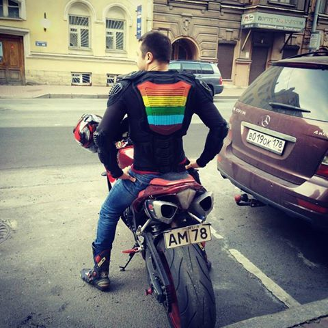 From Homoto, Russia's only gay motorcycle club