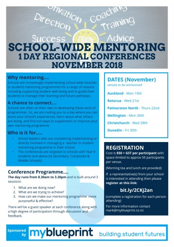 School-Wide Mentoring - 1 Day Regional Conferences \u2013 Education Gazette