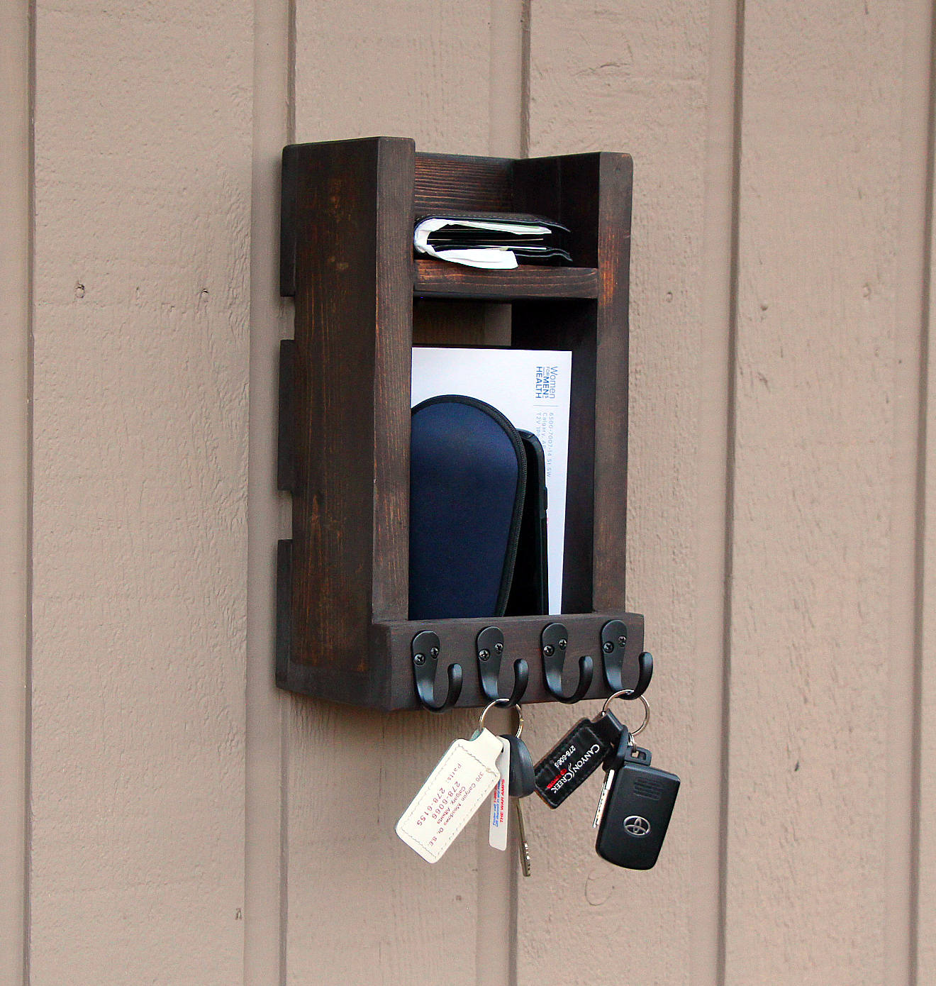 Wood Key Holder For Wall Buy Entryway Key Holder For Wall Up To 20 Key Hooks Mail