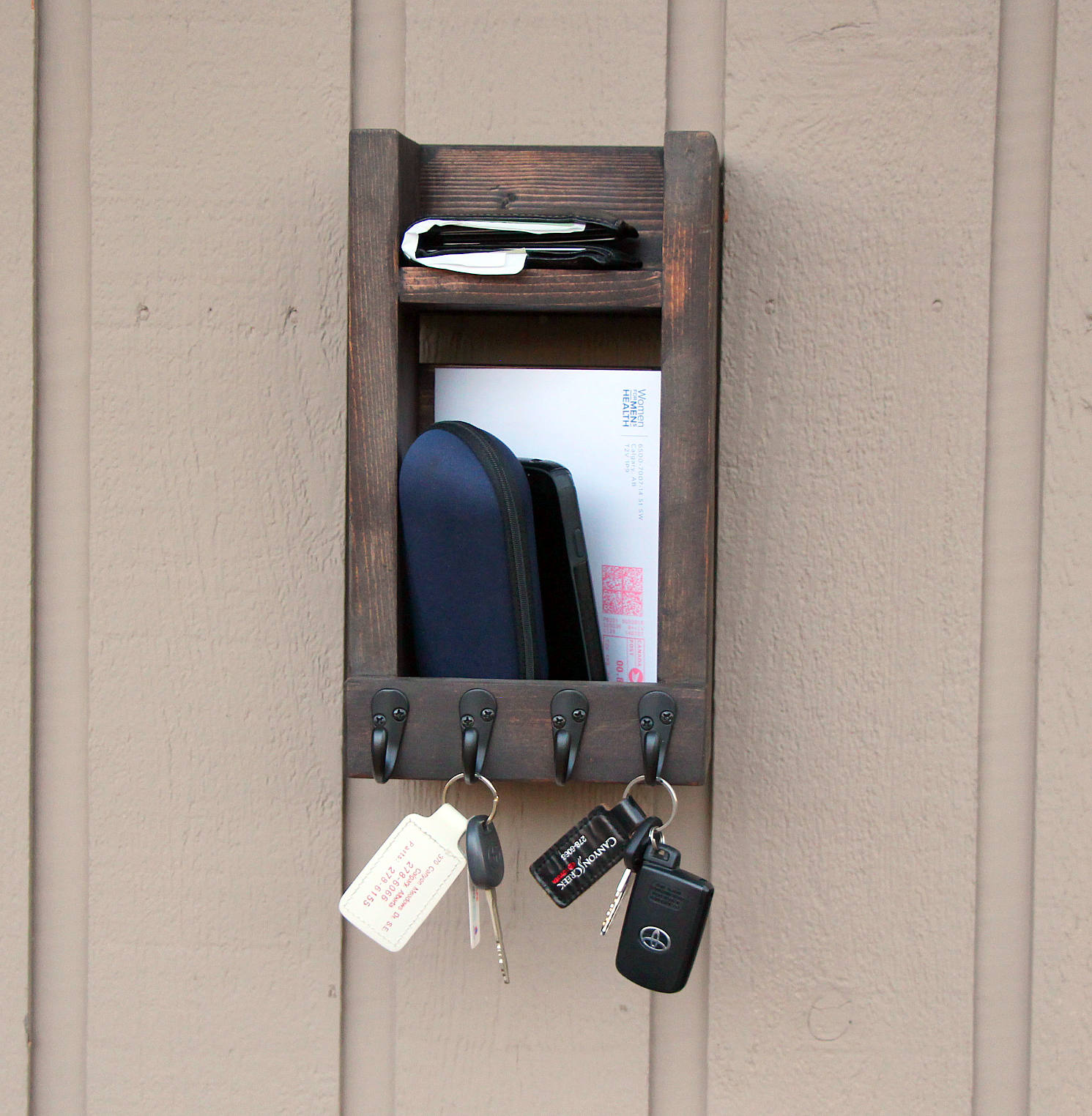 Hanging Mail And Key Organizer Buy Entryway Key Holder For Wall Up To 20 Key Hooks Mail