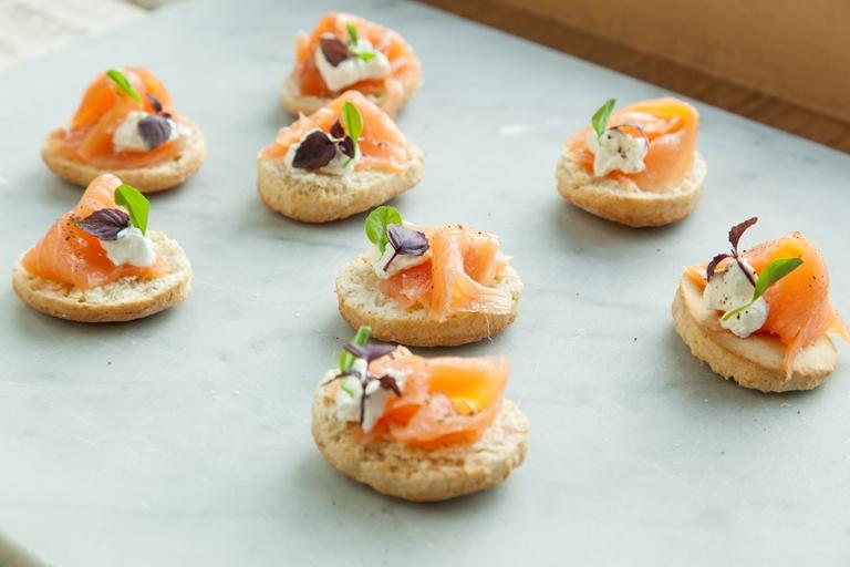 Smoked Salmon Canape Recipe Great British Chefs