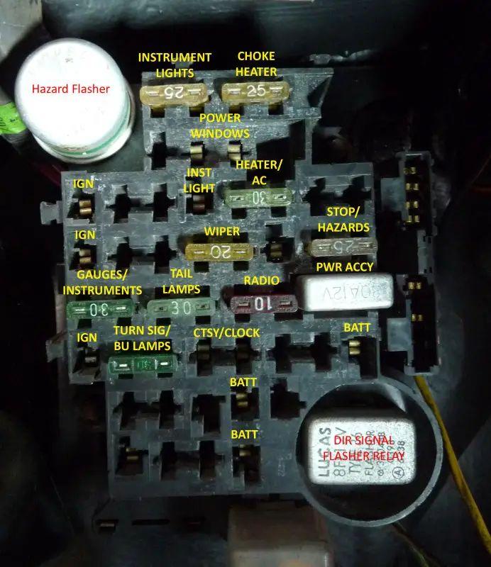 1978 chevy truck fuse block diagram