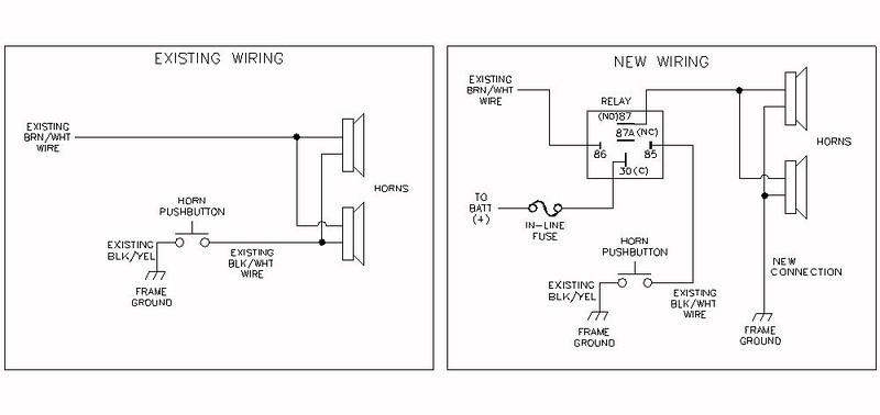 Dual Horn Wiring - Wiring Diagram Write