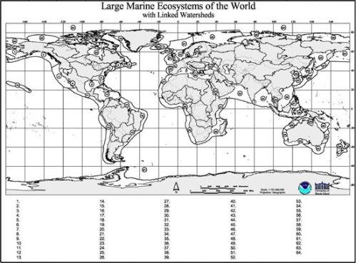 Marine Geography Quiz Map