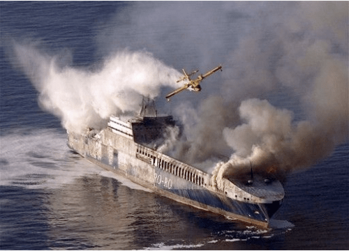 Turkish Ship M/V Und Adriyatik On Fire