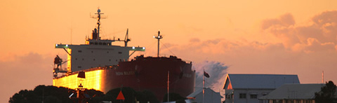 Pasha Bulker Hovering over the town of Newcastle Australia