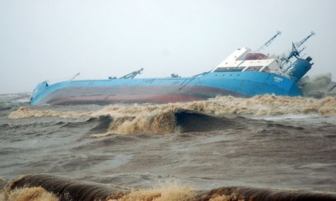 Ship DENDEN aground off Mangalore India