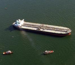 Tanker White Sea Aground Off Coney Island