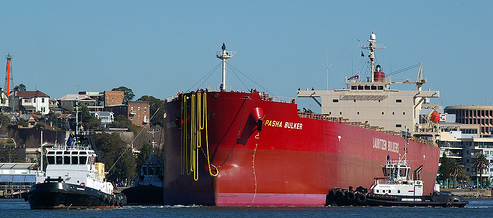 Pasha bulker under tow