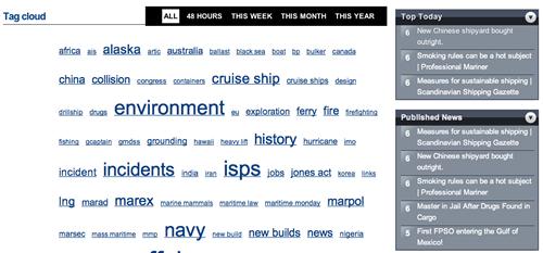 Maritime News TagCloud