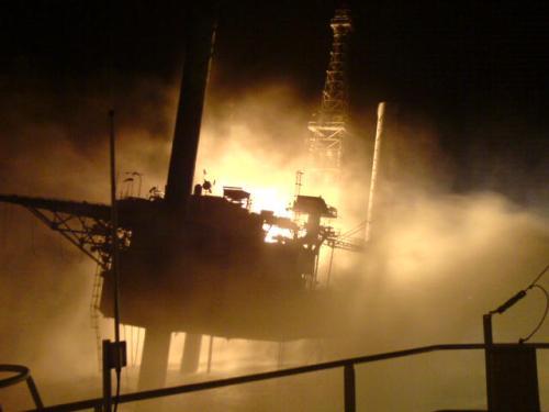 Pemex Oil Rig Fire