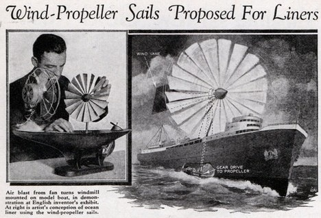 history from the future - wind propelled ships