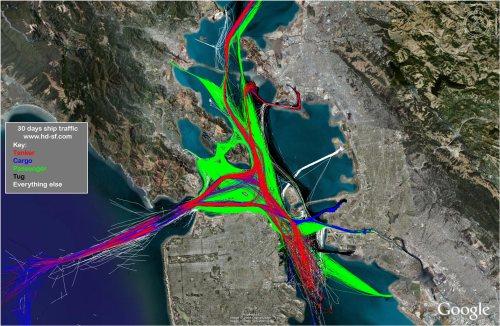 30 days ship traffic - San Francisco Bay