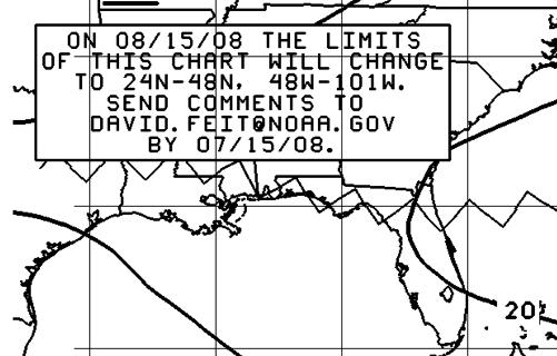 NOAA Surface Chart Notice