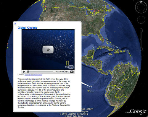 Oceans in Google Earth