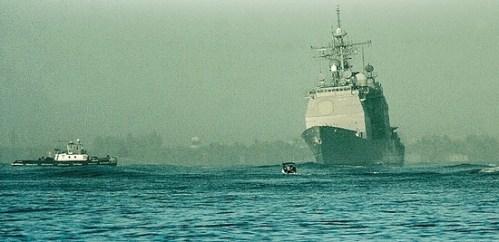 Navy Destroyer Port Royal Aground