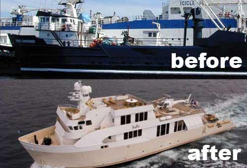 Suri fierce-contender Yacht Conversion