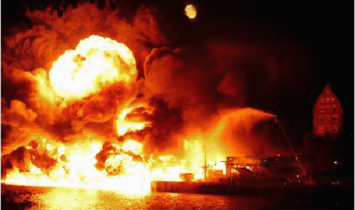 Port Kiel Fire