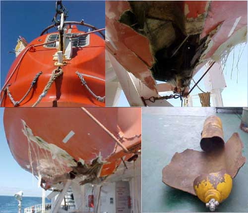 lifeboat air bottle explosion photo