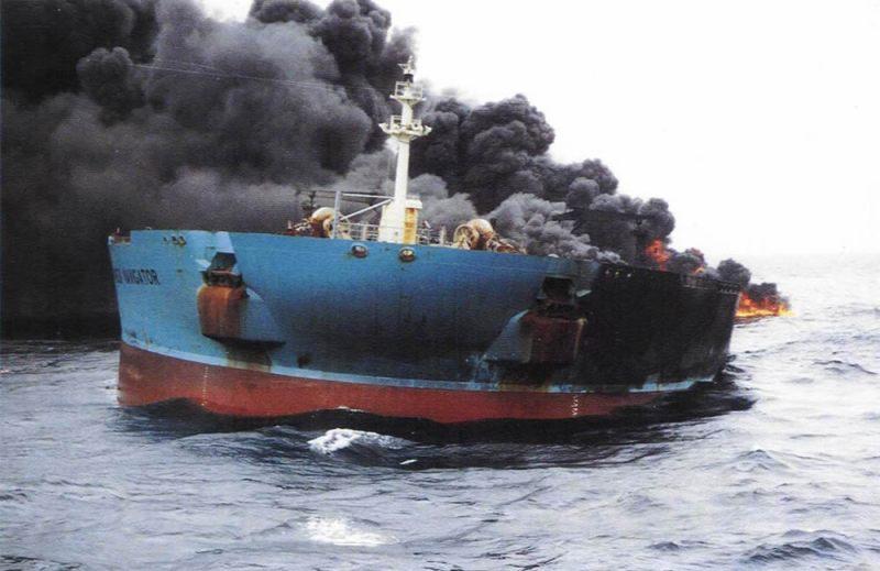 Ship Head-on Fire