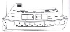 Pesbo BSC25m Lifeboat Drawing