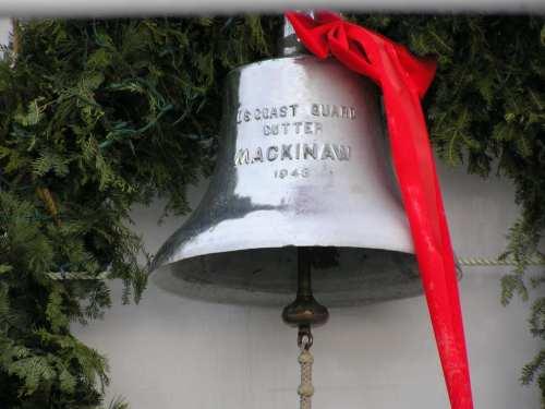 Christmas Ship's Bell - USCG Icebreaker Makinaw