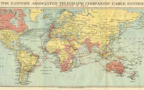 Undersea Cable Map WWI