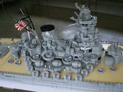 LEGO battleship Yamato superstructure