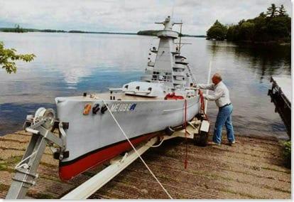 German Warship - Manned Model