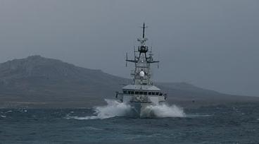 Bow Of A British Warship