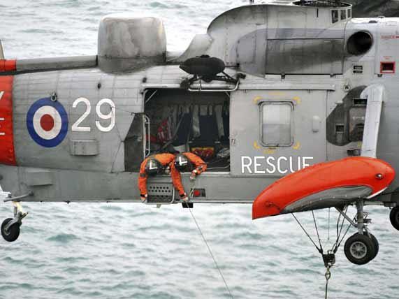 Royal Navy coast guard helicopter rescue