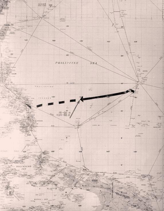 uss indianapolis sinking location