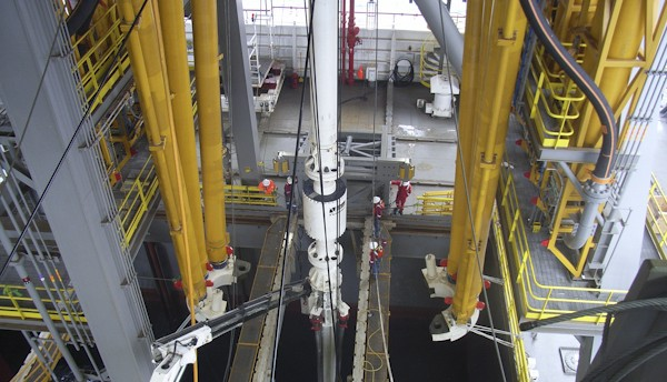 Moonpool offshore drilling riser flex joint